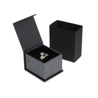 #PMR3-M23 Elegant Mesh Gray Magnetic Ring  Boxes
