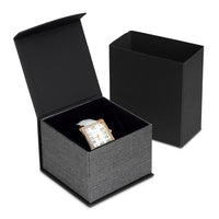 #PMW2-M23 Elegant Mesh Gray Magnetic Watch Box