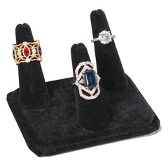 Black Velvet 3 Finger Ring Display -Nile Corp