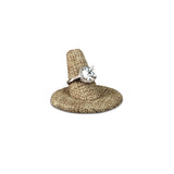 #RD-2442N Burlap Linen Ring Display with Round Base Stand