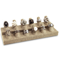 #RD-2462N-N3 Burlap Ring Display, 12 Rings