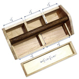 #SAT106 Natural Wood Color Wooden Craft Tool Box | Nile Corp
