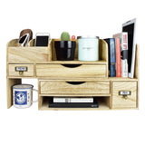 #SAT107 Adjustable Wooden Desktop Organizer Office Supplies Storage Shelf Rack | Nile Corp