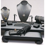 Steel Gray Faux Leather Combination Jewelry Display Set | Nile Corp