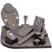 #SET6-W23 Dark Grey Vintage Jewelry Display Set | Nile Corp