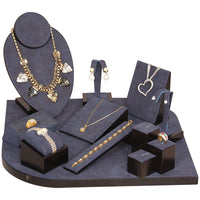 #SET6-W81 Dark Blue Vintage Jewelry Display Set | Nile Corp