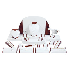 #SET20 Leatherette and Wood Combination Jewelry Display Set