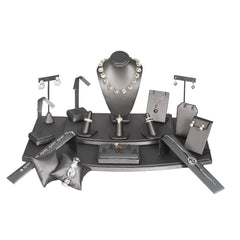 #SET71-SG Steel Gray Jewelry Display 18 Piece Set | Nile Corp