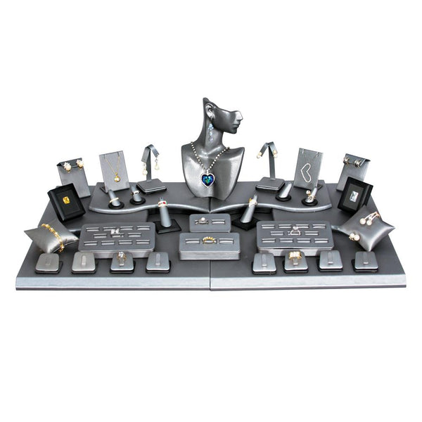 Steel Gray Jewelry Display Set, 35 pcs