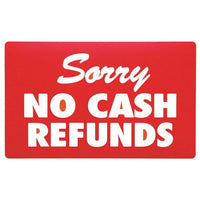 Sorry No Cash Refund Sign-Nile Corp