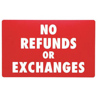 No Refund or Exchange Sign-Nile Corp