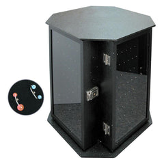 #TB1004-BK Rotating Body Jewelry Display Case with Pads | Nile Corp