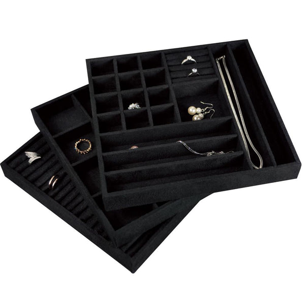 Stackable Suede Jewlery Storage Trays | Nile Corp