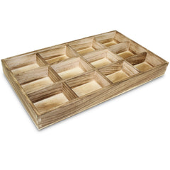 #WD123D Stackable Antique Wooden Jewelry Tray