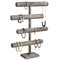 #WD2965CF Wooden 4-Tier Jewelry Display Stand