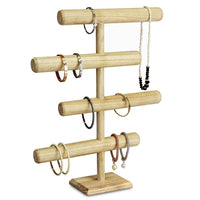 #WD2965OK Wooden 4-Tier Jewelry Display Stand