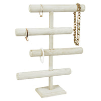 #WD2965WH Wooden 4-Tier Jewelry Display Stand