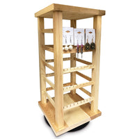 Wooden Rotating Earring Display Rack | Nile Corp