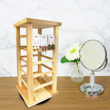 #WD3600 Wooden Rotating Earring Display Rack