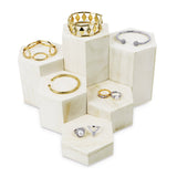 #WD513-WH Wooden 6 Pcs Hexagon Risers for Display Jewelry and Accessories Display Stand