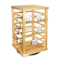 #WD5600 Natural Wood Rotating Jewelry Earring/Accessory Storage Display