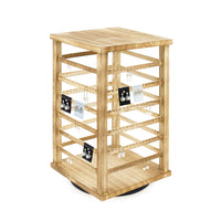 #WD5600-OK Natural Wood Rotating Jewelry Earring/Accessory Storage Display, Oak