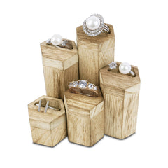 #WD605OK 5 Pcs Hexagon Risers for Ring Display Jewelry and Accessories Display Stand