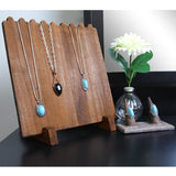 #WD609 Wooden Plank Necklace Jewelry Display Stand for 8 Necklaces