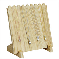 #WD609-OK Wooden Plank Necklace Jewelry Display Stand for 8 Necklaces