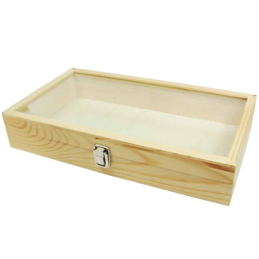 Tempered Glass Top Wooden Case-Nile Corp