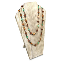 #WDN62-OK Wooden Jewelry Display Bust with Easel for 2 Necklaces - Oak