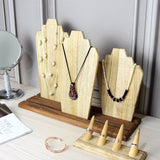 #WDN64 Wooden Necklace Holder Jewelry Display Bust Stand
