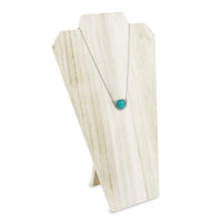 #WDN67-WH Wooden Jewelry Display Bust with Easel - White