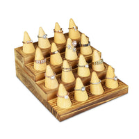 #WDR3612 4 Step Wooden Ring Organizer Cone Shape Ring Display Cone Ring Tray Finger Ring Stand Wooden Jewelry Display Ring Holder