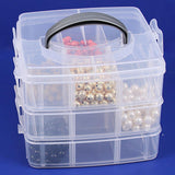 Frosted Plastic 3 Layer Storage Box | Nile Corp