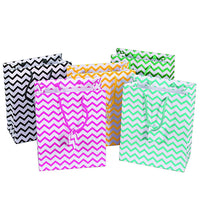 Chevron Mixed Color Shopping Totes Bags-Nile Corp