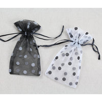Flocked Polka Dot Organza Pouch-Nile Corp