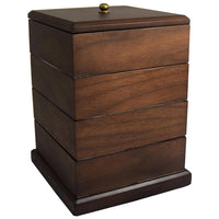 Wooden Swivel Jewelry Box Organizer Storage-Nile Corp