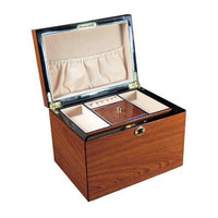 High Gloss View Top Wood Jewelry Chest-Nile Corp