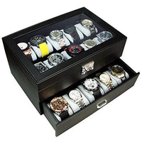 Watch Case with Silver Lock for 20 Watches -Nile Corp