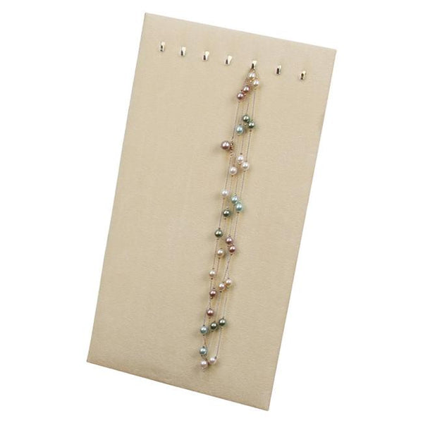 Faux Suede 7 Hooks Chain Board Easel Display-Nile Corp