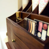 Premium Wooden Makeup Storage Office Organizer Jewelry Box | Nile Corp