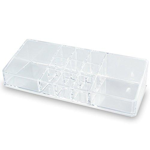 Acrylic Makeup Organizer with 11 Compartments-Nile Corp
