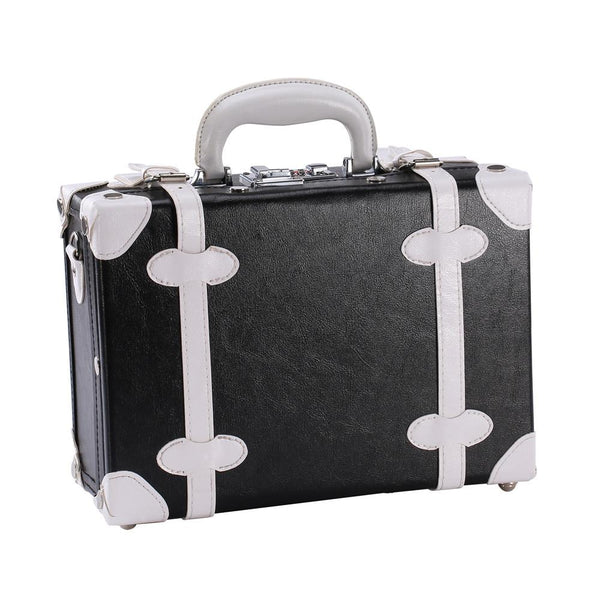 Black Cosmetic Travel Carrying Case Beauty Brief Case-Nile Corp
