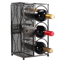 Metal Wine Bottle Rack and Cork Collector Holder-Nile Corp