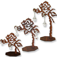 Wooden Rose Earring Display-Nile Corp