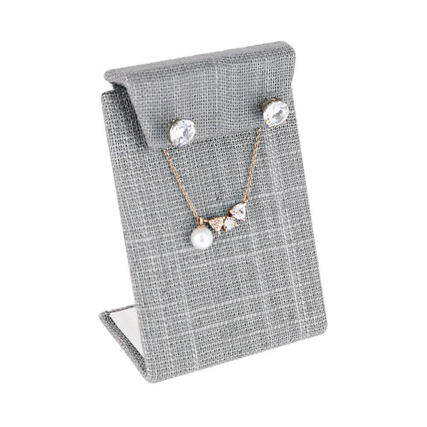 Earring Stand, Gray Linen | Nile Corp