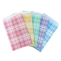 Paper Gift Bag, Assorted Color Plaid Pattern | Nile Corp