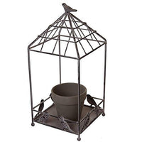 Rustic Metal Wire Plant and Tissue Holder with Pot-Nile Corp