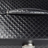 Textured Black Leatherette Jewelry Box | Nile Corp